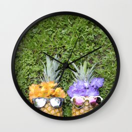 Pineapple Pals Wall Clock