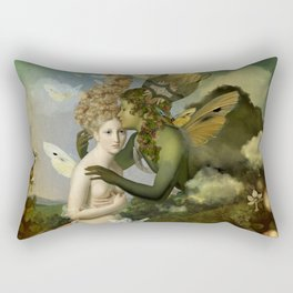 """The body, the soul and the garden of love"" Rectangular Pillow"