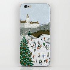 Ice skating pond iPhone & iPod Skin