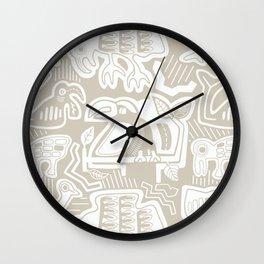 Molas Molas | Island Print | Taupe Wall Clock
