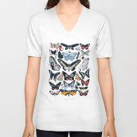 wildlife V-neck T-shirts featuring London Wildlife by Hanna Melin