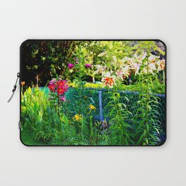 Lilies By The Fence Laptop Sleeve