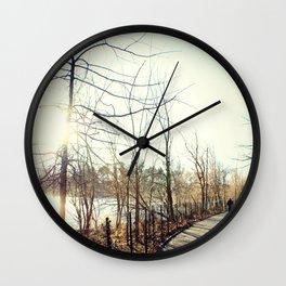 Along Kissena Lake, New York City Wall Clock
