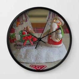 Santas Sleigh. Wall Clock