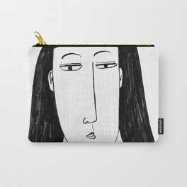Stylised Charcoal Painting of a Woman Carry-All Pouch