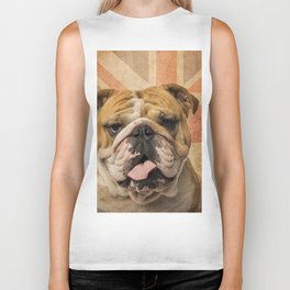English Bulldog, Great Britain flag ! Biker Tank