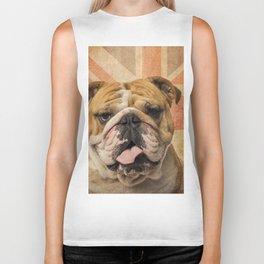 English Bulldog, Great Britain flag ! Biker Tank