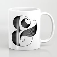 ampersand Mugs featuring Ampersand by Jude Landry