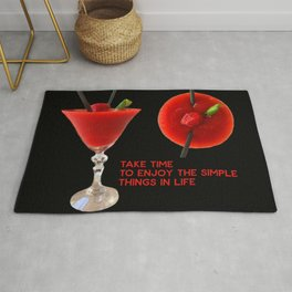 Daiquiri - enjoy the simple things in life Rug