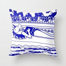 Pool Time Unicorn V2 Throw Pillow