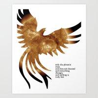 neil gaiman Art Prints featuring Neil Gaiman Inspired Art by pennyprintables