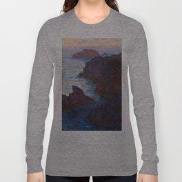1886-Claude Monet-Rocks at Belle-lle, Port-Domois-65 x 81 Long Sleeve T-shirt