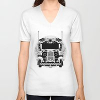 jeep V-neck T-shirts featuring jeep ni erap by cocoyponce