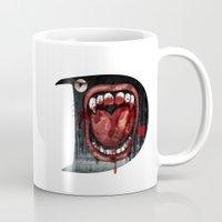 dracula Mugs featuring Dracula by Jhonatan Medina