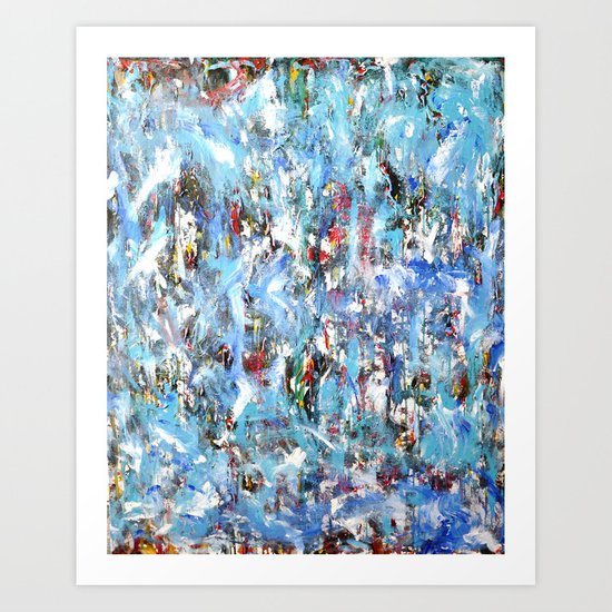 GOOD MORNING BLUE Art Print