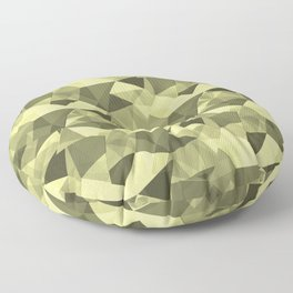 Abstract Geometrical Triangle Patterns 4 VA Lime Green - Lime Mousse - Bright Cactus Green - Celery Floor Pillow