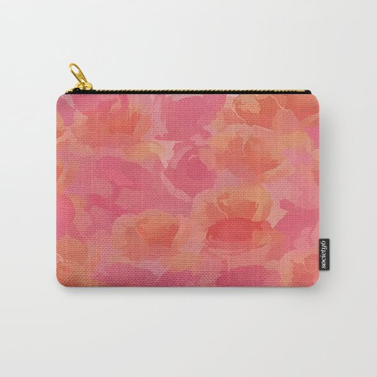 Soft Rose Bouquet Abstract Carry-All Pouch