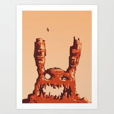 Rabbit Rock Art Print