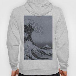 Silver Japanese Great Wave off Kanagawa by Hokusai Hoody