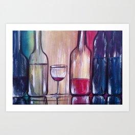Wine Reflections Art Print