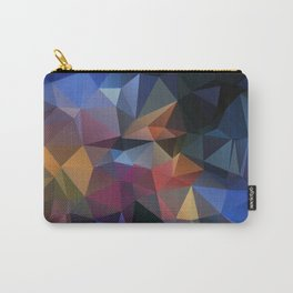 Abstract background of triangles polygon design bright colors Carry-All Pouch