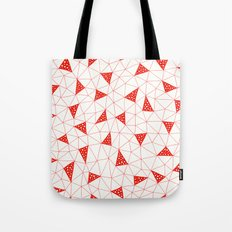 Red Tiangles Tote Bag