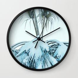 Palm and Snow Wall Clock