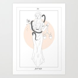 Biancabella and the Snake Art Print