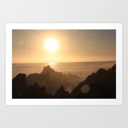 Sunset at Gordons Bay, South Africa Art Print