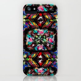 Ecuadorian Stained Glass 0760 iPhone Case