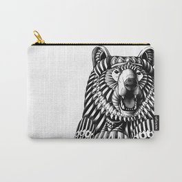 Ornate Grizzly Bear Carry-All Pouch
