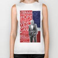 obama Biker Tanks featuring Barack Obama by kaseysmithcs