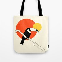 toucan Tote Bags featuring Toucan by Rebekhaart