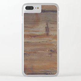 Shipboard Planks Clear iPhone Case