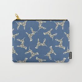 Dalmatian On Blue Carry-All Pouch