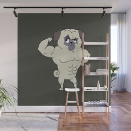 Fit Pug Wall Mural