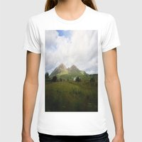 scotland T-shirts featuring Somewhere in Scotland by Jane Lacey Smith