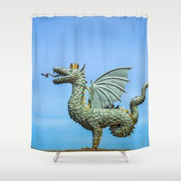 Dragon Zilant Shower Curtain
