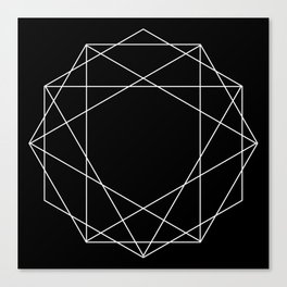 Poly Constellation Outline Canvas Print