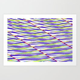 Wavy image #5 Art Print