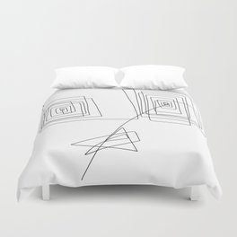 Mother - Modern Minimalism Illustration Abstract One Line Drawing Duvet Cover