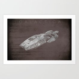 Battlestar Galactica BSG minimalist Galactica Art Print