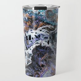 Molten Time (flow art on canvas) Travel Mug