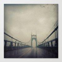 marc johns Canvas Prints featuring St. Johns Bridge by Leah Flores