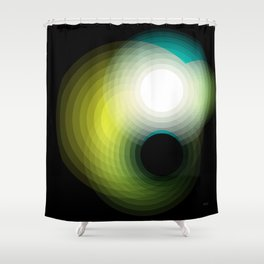 Black Hole by Friztin Shower Curtain