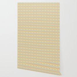 Colorful abstract modern geometrical chevron pattern Wallpaper
