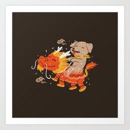 Dog's Year Art Print