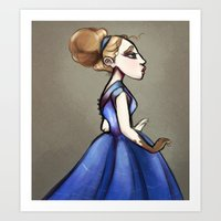 georgiana paraschiv Art Prints featuring Georgiana  by tailor moblee