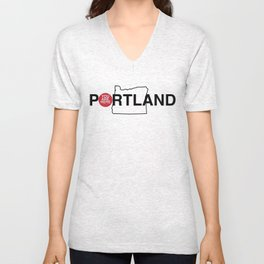 You Are Here -- Portland Unisex V-Neck