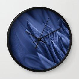 Macro photo of a blue flower Wall Clock